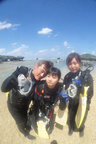 裏真栄田 体験ダイビング